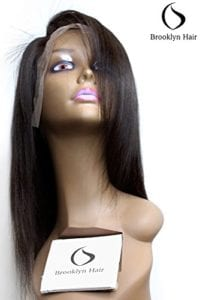 Human Hair Wigs  | Brazilian Silky Full Lace Human Hair Wigs with Baby Hair Natural Black